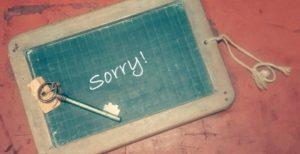 sorry!の黒板