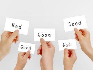 Good Bad 人によって解釈が違うという意味の写真